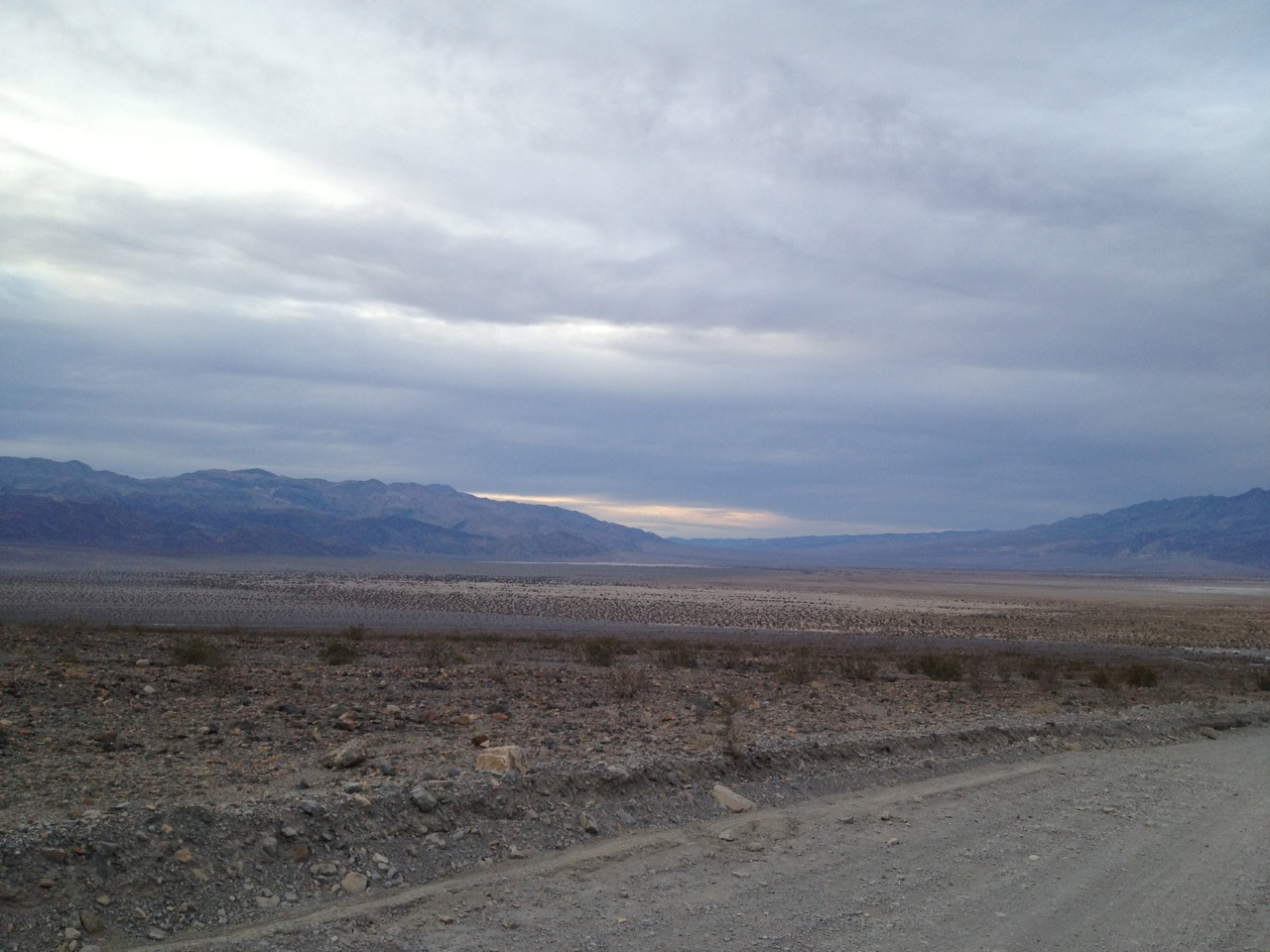 View of Death Valley, looking north from Mosaic Canyon Road, west of Stovepipe Wells.