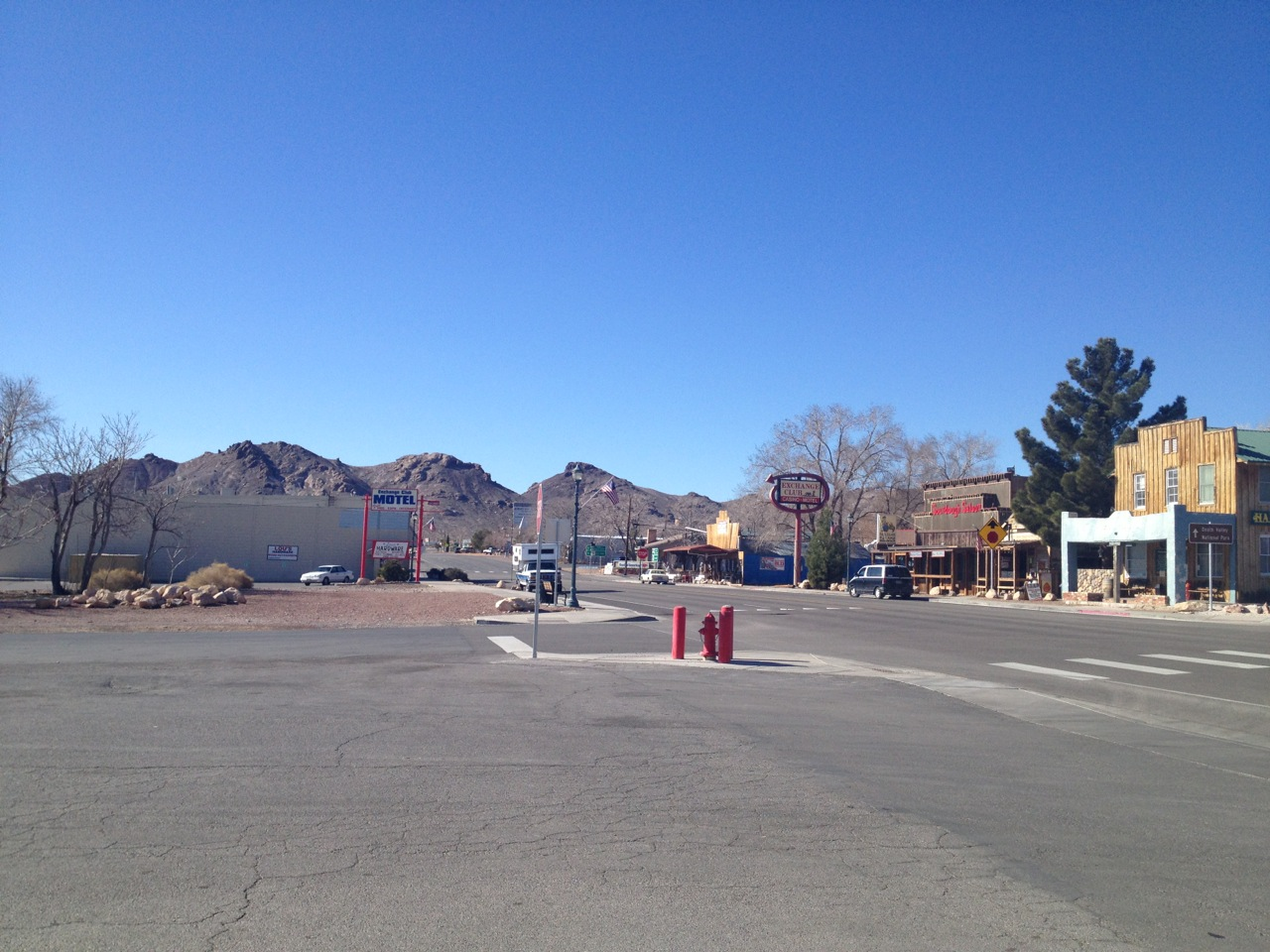 View of Beatty, NV, from the gas station.