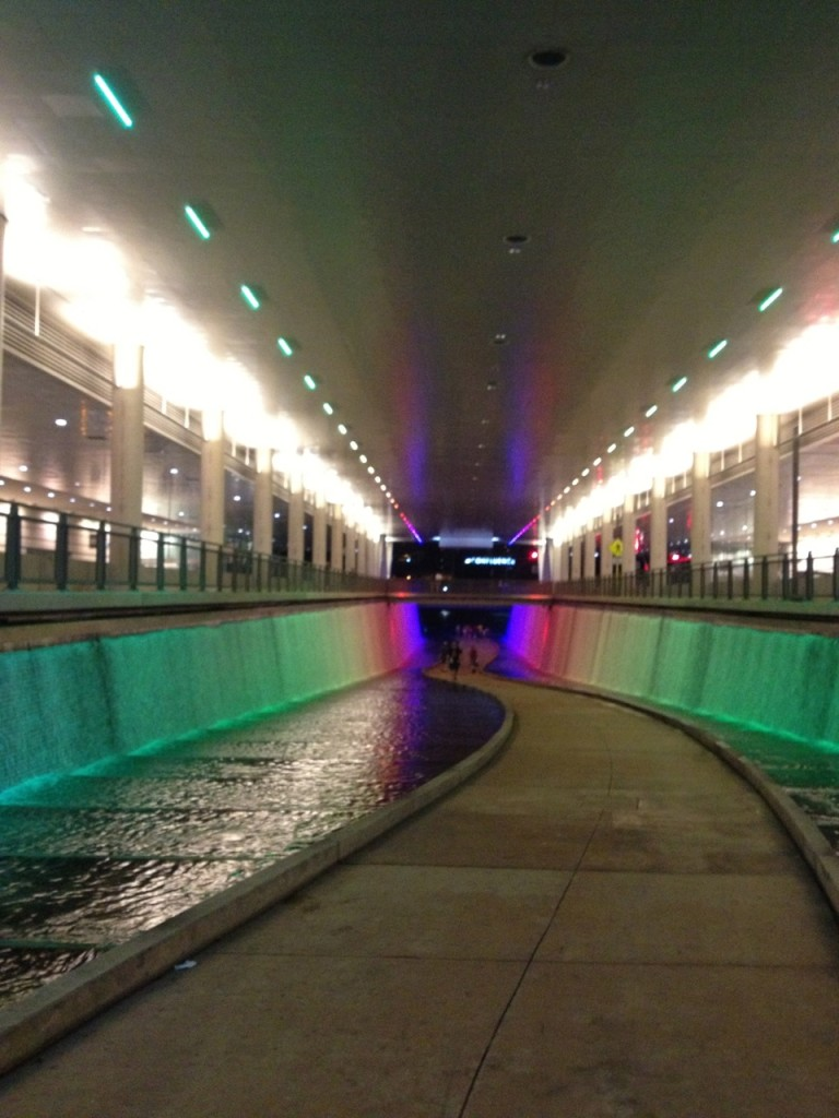 "The ""fountain path"" beneath the DLLCC. It leads to a dock on the Allegheny River."